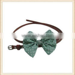 LOVELY fancy skinny leather belt with bow tie for maxi dress/ long top/decoration alibaba China supplier