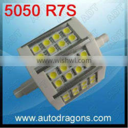 Hot selling R7S 5W 3 chips power 24led corn lamp