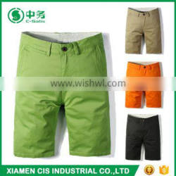 Fashion Style Multi Color 100 Cotton Summer Slim Fit Mens Chino Shorts