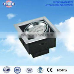 9W power LED grille light box(lamp cover) aluminum alloy square suitable for installation in a ceiling scriptorium