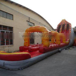 5006315- Commercial Amusement Park Giant Inflatable Volcano Water Slip Slide with Pool