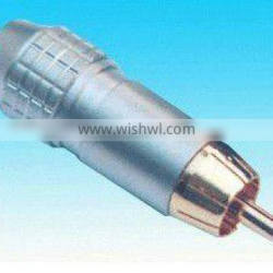 rca plug brass material white color plating rohs comliant