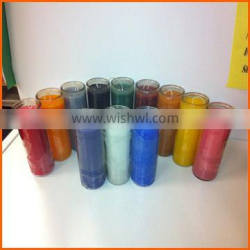 High quality clear 7 day candle glass wholesale