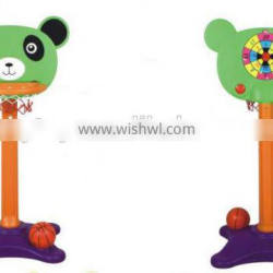 New arrival adjustable plastic basketball stand for kids