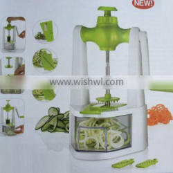 NEW Multi-functional Plastic 3 in 1 cyclone spiralicer Vegetable Slicer magic chooper with container