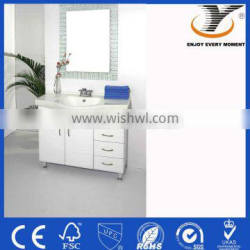 Modern white used bathroom cabinets of MDF
