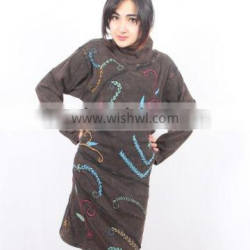 SHWDR306 cotton embroidery dress full sleeve $8.5