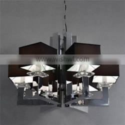 Modern Style chandelier lamp/Premium quality Chromed pendant lamps/ with lampshade hunging lighting