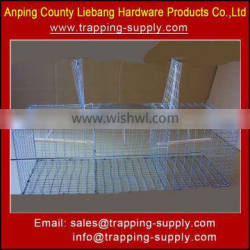 Metal Wire Mesh Bird Cage Collapsible Bird Trap Cage for Pigeon Crow Magpie