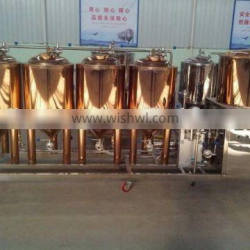 Customized 50l home brewery equipment copper plating small beer brewery equipment for sale