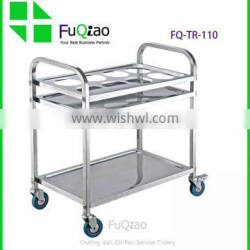 Hotel And Restaurant Supplies Stainless Steel Restaurant Food Service Trolley In Hotel Trolley