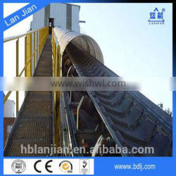 ISO certficate Industry using Abrasive Chevron rubber cleated conveyor belt
