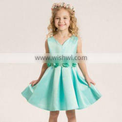 custom Breathable hot sale viscose fuzzy flower pattern Baptism and Christening Outfits