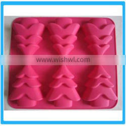 Hot Sale Christmas Decoration Tools 6 Cubes Party Decorating Gadgets Christmas Tree Cake Moulds