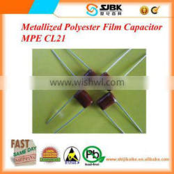Metallized Polyester Film Capacitor MPE CL21