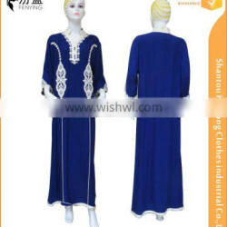 the newest short sleeves big area rope embroidery maxi dress