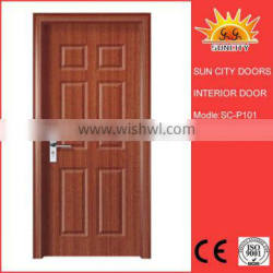 PVC covered mdf entry door