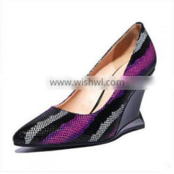 2015 good sale wedge lady shoes ,office lady shoes ,best price and good quality