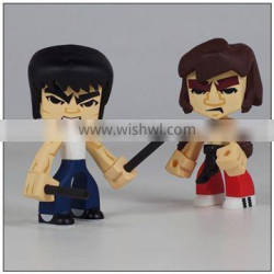 Create your own design kongfu star action figure toys custom make in china factory