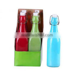500ml round glass bottle with buckle