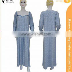 95%polyester 5%spendax milk silk casual muslim night robe with floral print