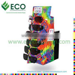 POS Advertising Counter Top Cardboard Display Stands For Sunglasses