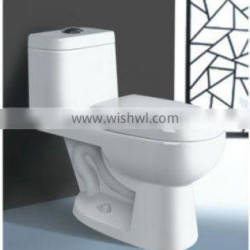 Economical Sanitaryware one piece toilet, toilet WC with heavy production capacity