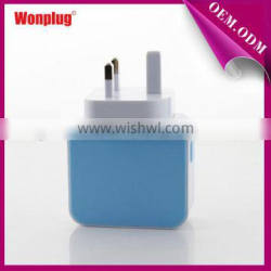 3.1A Singapore, Malaysia travel iphone 5 charger with UK plug