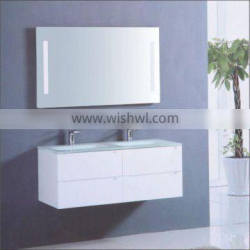 European style white wall-mounted MDF bathroom cabinets
