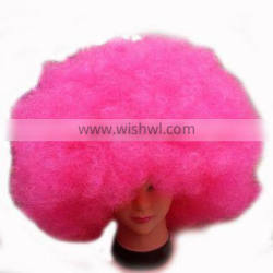 MPW-0400 (180g) Party supplier inflated kinky novelty huge big pink afro wig