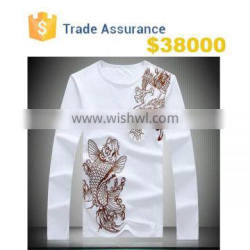 Wholesale - Men Tee Chinese Style Fashion Long-sleeved T-shirt Printing