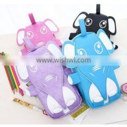 Large pencil case funny animal shaped lovely pu pencil bag
