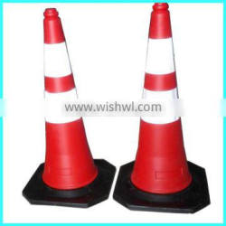 Colorful pe road marking barricade caution cone with reflective sheeting
