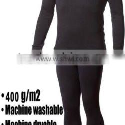 Custom Mens Pure 100% Merino Wool Outdoor Winter sports Long Sleeves fleece Thermal Underwear Thicke tops&bottom Epedition Weigh