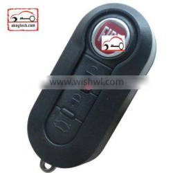 OkeyTech Fiat 3 button modified flip remote key shell black color for shell key fiat 500 key cover