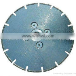 Electro-plated segmented diamond saw blade for marble