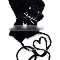fashional newest lovely cute super soft cozy animal fingerless glove