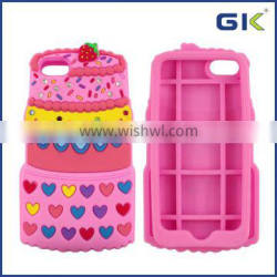[GGIT] 3D Colorful Cake Shape Back Cover For IPhone 6 Silicone Case