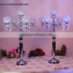 Romantic crystal wedding centerpiece candelabra centerpiece wedding table centerpieces for wedding&party decoration(CAN-067) Supplier's Choice