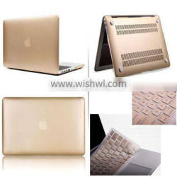 Gold Matte Rubberized case keyboard cover For Macbook Pro Air Retina 11 13 15inch