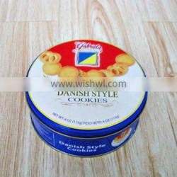 Christmas promotional biscuit round tin box for packaging