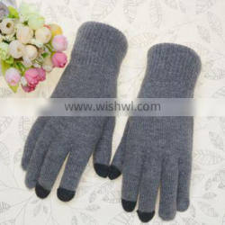 popular personalized winter wool knitted touch phone screen glove