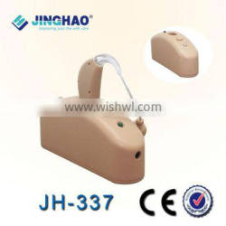 Travel rechargeable bte hearing aid portable sound amplifier with charger and battery
