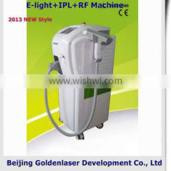 2013 New style E-light+IPL+RF machine www.golden-laser.org/ disposable beauty products