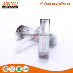 Jinyu factory price wholesale strong adhesive high viscosity quick dry plastic bottle 1g super glue 505