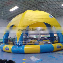 In stock professional yellow inflatable water pool with tent