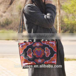Best price women office bag embroidery design leather bag