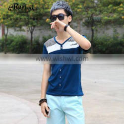 Peijiaxin Casual Style New Design China Cheap V neck Wholesale T shirts