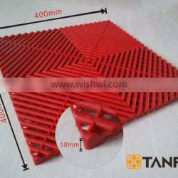 TANFU Red Good Quality Expo Plastic Flooring for Heli Expo and Trade Show & Event & Garage