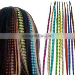 wholesale synthetic grizzly hair feathers feather hair extensions
